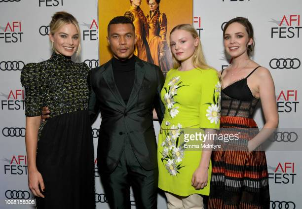 Margot Robbie Ismael Cruz Cordova Maria Dragus and Eileen O'Higgins attend the closing night world premiere gala screening of 'Mary Queen Of Scots'...