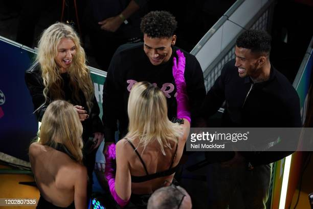 Margot Robbie meets Love Island contestants at the Birds of Prey And the Fantabulous Emancipation Of One Harley Quinn World Premiere at the BFI IMAX...
