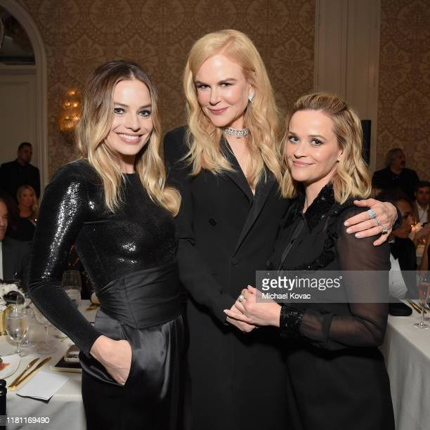 Margot Robbie Nicole Kidman and Reese Witherspoon attend ELLE's 26th Annual Women In Hollywood Celebration Presented By Ralph Lauren And Lexus at The...