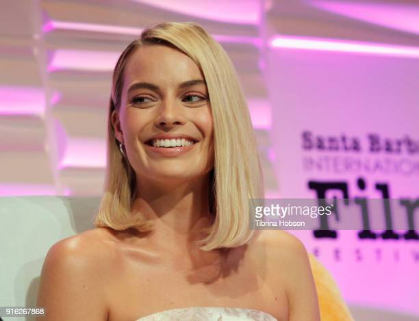 Margot Robbie receives the Outstanding Performers Award at the 33rd Annual Santa Barbara International Film Festival at Arlington Theatre on February...