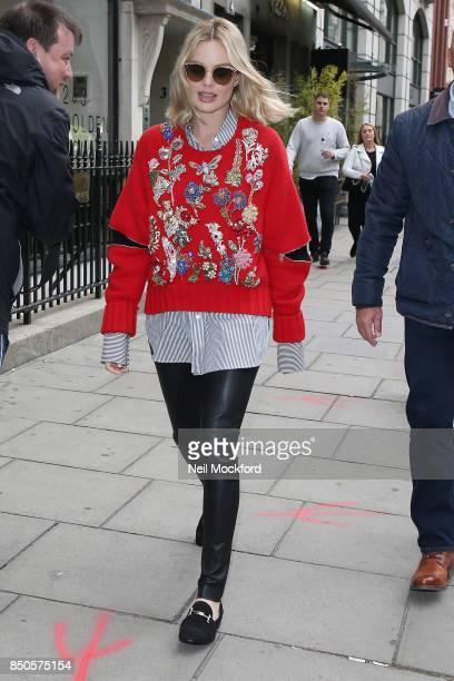 Margot Robbie seen at the Magic Radio Studios on September 21 2017 in London England