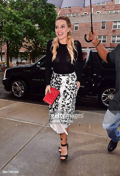 Margot Robbie seen on the streets of Manhattan on July 30 2016 in New York City