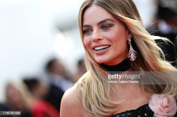 "Margot Robbie ttends the screening of ""Once Upon A Time In Hollywood"" during the 72nd annual Cannes Film Festival on May 21, 2019 in Cannes, France."