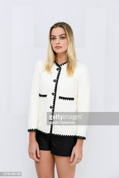 Margot Robbie virtually attends the Chanel Womenswear Spring Summer 2021 held at the Grand Palais on October 06 2020 in Paris France