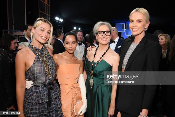 Margot Robbie Zoë Kravitz Meryl Streep and Charlize Theron attend the 26th Annual Screen ActorsGuild Awards at The Shrine Auditorium on January 19...