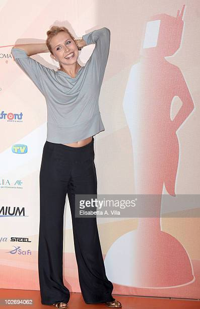 Margot Sikabony attends a photocall during the Rome Fiction Fest at Adriano Cinema on July 7 2010 in Rome Italy