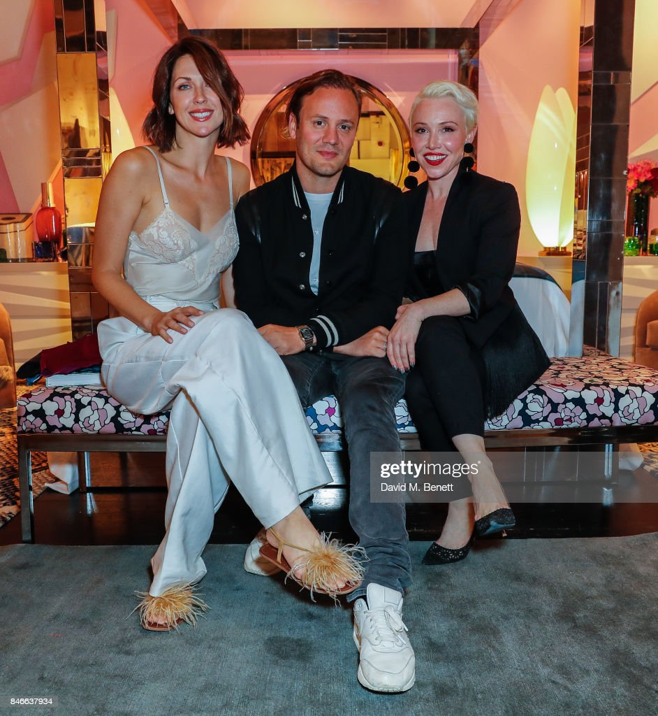 Margot Stilly, Nicholas Kirkwood and Daisy Lewis attend the 'Designed At Talisman' designer exhibition during the London Design Festival 2017 at Talisman, New Kings Road, on September 13, 2017 in London, England.