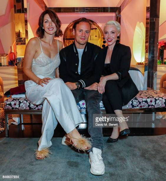 Margot Stilly Nicholas Kirkwood and Daisy Lewis attend the 'Designed At Talisman' designer exhibition during the London Design Festival 2017 at...