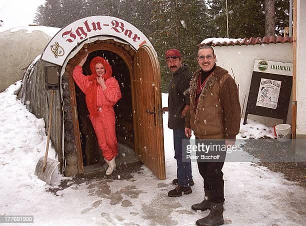 Margot Werner Ehemann Jochen Litt HansJürgen Posch Hotel Berwanger Hof Berwangen Tirol sterreich Europa Europa Schnee Winter SchneeBar Roter Baron...
