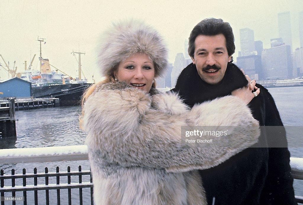 Margot Werner, Ehemann Jochen Litt, \'Hudson-River\', New York, Am ...