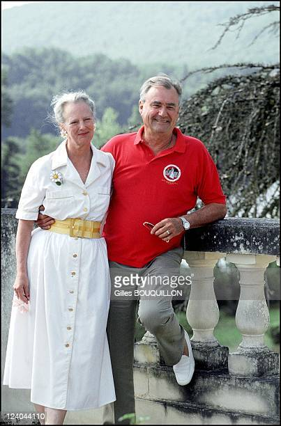Margrethe and Henri of Denmark at Chateau de Caix In Luzech France On August 072000
