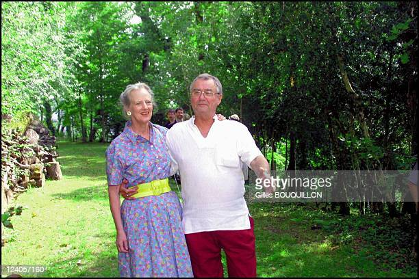 Margrethe and Henri of Denmark at Chateau de Caix In Luzech France On August 072001