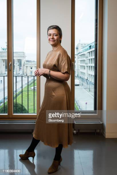Margrethe Vestager competition commissioner of the European Commission poses for a photograph ahead of a Bloomberg Television interview in Berlin...