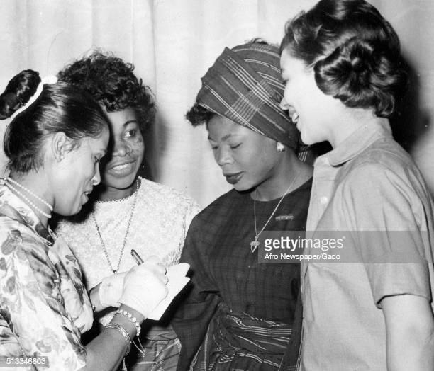 Marguerite Belafonte and Nigerian models February 29 1964