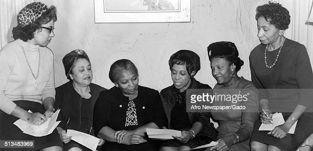 Marguerite Belafonte and women during a fashion show Maryland January 23 1965