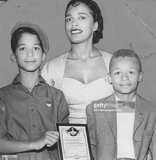 Marguerite Belafonte and youth life members of the National Association for the Advancement of Colored People October 24 1959