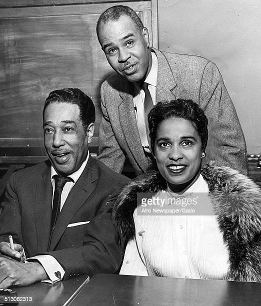 Marguerite Belafonte Duke Ellington and former National Association for the Advancement of Colored People leader Roy Wilkins at Hotel Roosevelt...