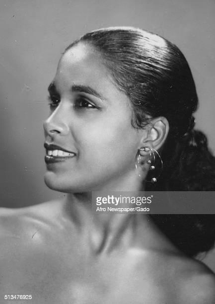 Marguerite Belafonte posing 1958