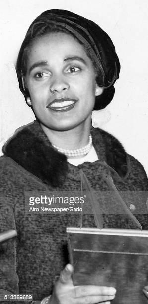Marguerite Belafonte receiving an award October 4 1958
