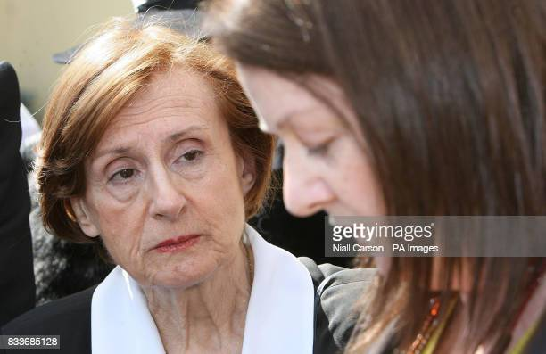 Marguerite Bouniol mother of Murdered Frence woman Sophie Toscan du Plantier listens to the prayers of Anne Delcassian sister of Dundalk woman Irene...