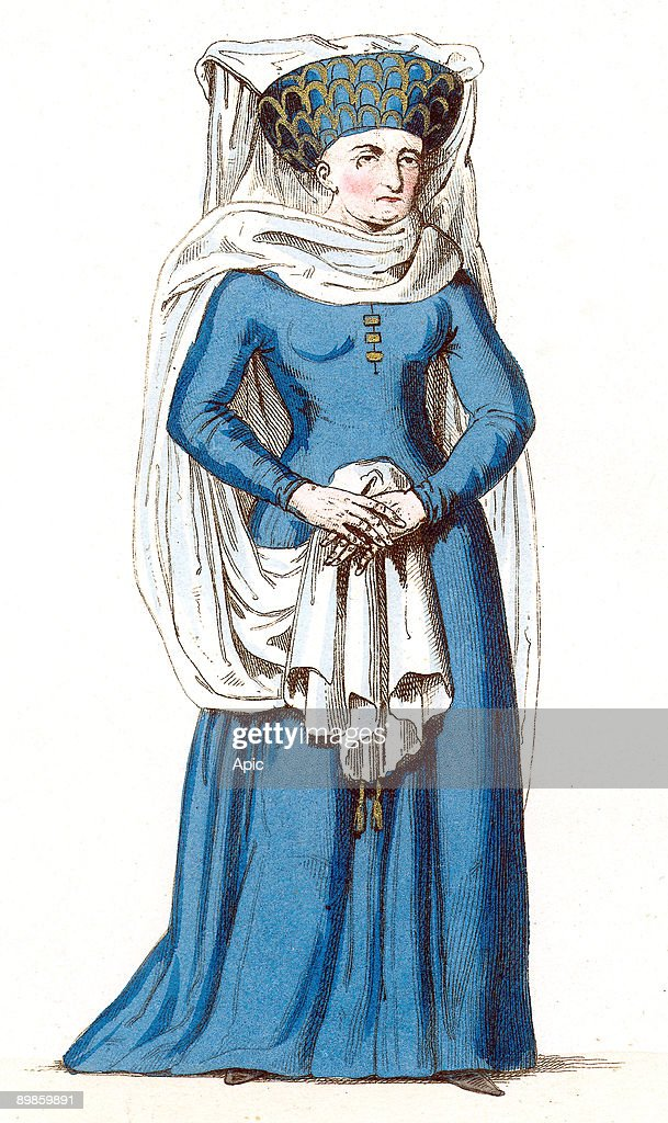 Marguerite de Comminges wife of ArnaudII lord of Durfort, under the reign of CharlesVII , 15th century : News Photo