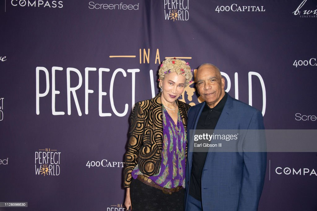 Marguerite Lathan and Stan Lathan attend In A Perfect World MAP Gala on
