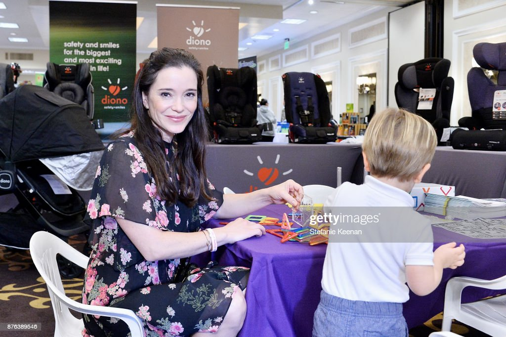 Marguerite Moreau and family attend Diono Presents Inaugural A Day of Thanks and Giving Event at The Beverly Hilton Hotel on November 19, 2017 in Beverly Hills, California.