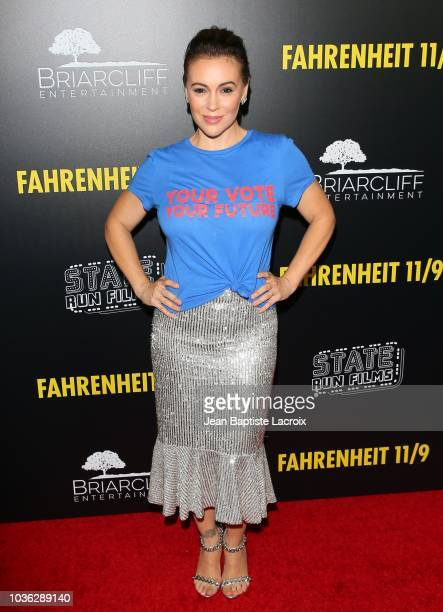 Marguerite Moreau and guests attend the premiere of Briarcliff Entertainment's 'Fahrenheit 11/9' on September 19 2018 in Los Angeles California