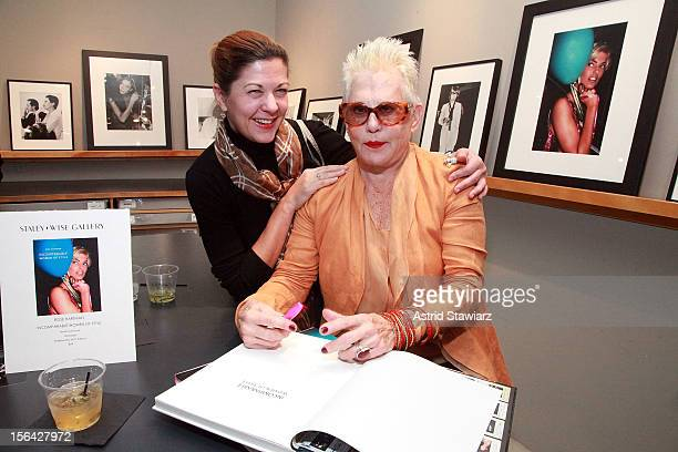 Marguerite Ruscito and photographer Rose Hartman attend the Incomparable Women Of Style Book Launch Celebration at Staley Wise Gallery on November 14...