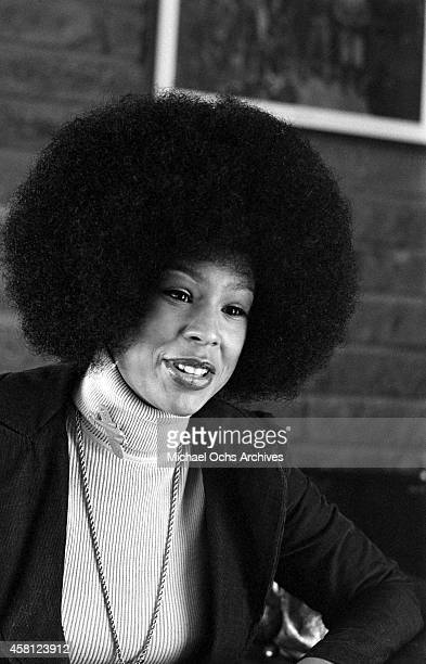 Marguerite Simpson wife of O J Simpson poses for a portrait at home on January 8 1973 in Los Angeles California