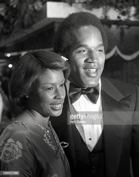Marguerite Whitley Simpson and OJ Simpson during The Cassandra Crossing Los Angeles Premiere at Avco Embassy Theater in Los Angeles California United...
