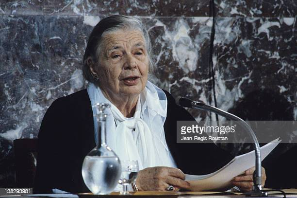 Marguerite Yourcenar French writer at the French Academy Paris 1981