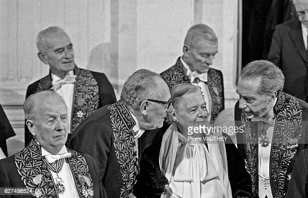 Marguerite Yourcenar makes history at the Academie Francaise after being admitted into the inner circle or Quarante previously reserved for men The...