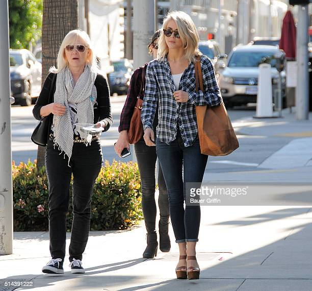 Mari Anne Hough and Julianne Hough are seen on March 08 2016 in Los Angeles California