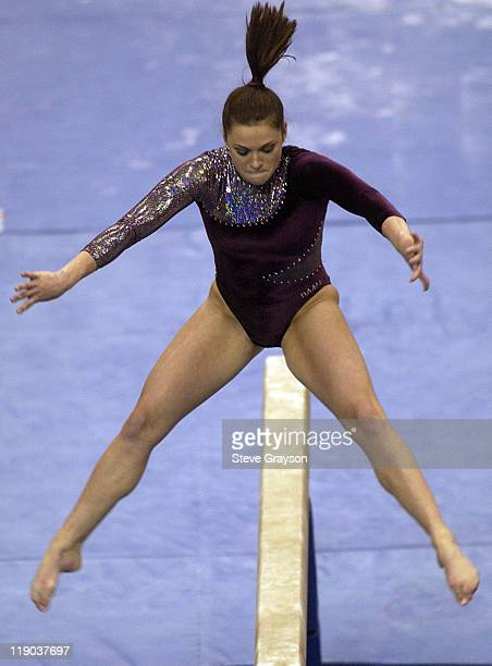 Mari Bayer of Alabama in action during the 2004 NCAA Championship Team Finals at Pauley Pavilion in Westwood California April 16