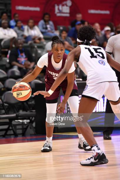 Mari Bickley of US Midwest Girls handles the ball against US MidAtlantic Girls during Pool Play of the Jr NBA Global Championship on August 6 2019 at...