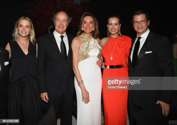 Mari Carmen Ramos guest Alejandra Aleman Petra Nemcova and Alejandro Grimaldi attend the Happy Hearts Fundation Mexico 10th Anniversary at Four...