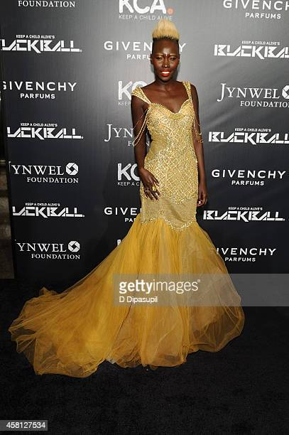 Mari Malek attends the 9th annual Keep A Child Alive Black Ball at Hammerstein Ballroom on October 30 2014 in New York City