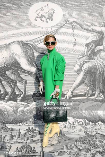 Mari Natsuki arrives at the Gucci show during Milan Fashion Week Autumn/Winter 2019/20 on February 20 2019 in Milan Italy