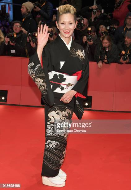 Mari Natsuki attends the Opening Ceremony 'Isle of Dogs' premiere during the 68th Berlinale International Film Festival Berlin at Berlinale Palace on...