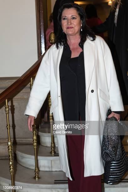 Mari Pau Domínguez attends the awarding ceremony of the honor medal of the Royal National Academy of Medicine to Cayetano Martinez de Irujo on...