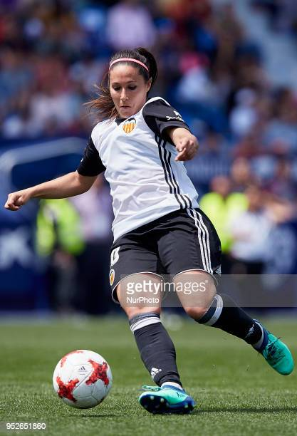 Mari Paz of Valencia CF Women with the ball during the Liga Femenina game between Levante UD Women and Valencia CF Women at Ciutat de Valencia on...