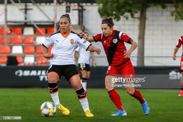 Mari Paz Vilas of Valencia CF in action during the Spanish League Primera Iberdrola women football match played between Valencia CF Femenino and Rayo...