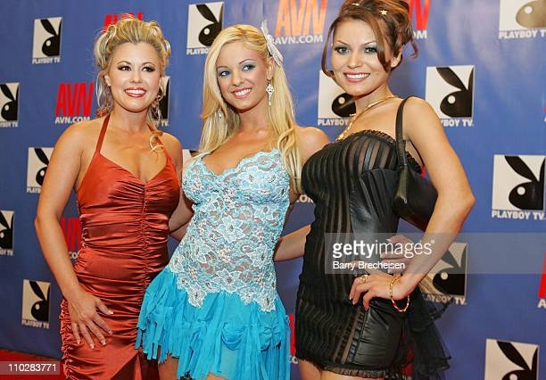 Mari Possa Austyn Moore Carmen Luvana during 23rd Annual AVN Awards Show Red Carpet at Venetian Hotel in Las Vegas Nevada United States