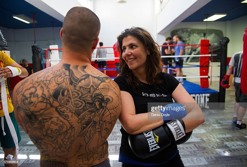 Spanish Women Take Up The Traditionally Male Sport Of Boxing : News Photo