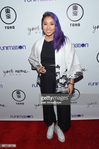 Mari Takahashi attends Funimation Films presents 'Your Name' Theatrical Premiere in Los Angeles CA at Yamashiro Hollywood on March 23 2017 in Los...