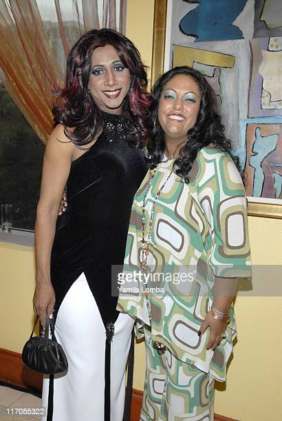 Mari Trini and India during 18TH ANNUAL GLAAD MEDIA AWARDS Miami at JW Marriott in Miami Florida United States