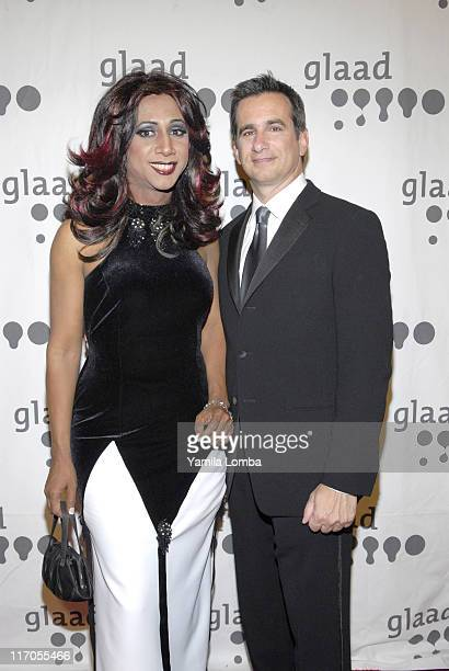 Mari Trini and Neil Giuliano during 18TH ANNUAL GLAAD MEDIA AWARDS Miami at JW Marriott in Miami Florida United States