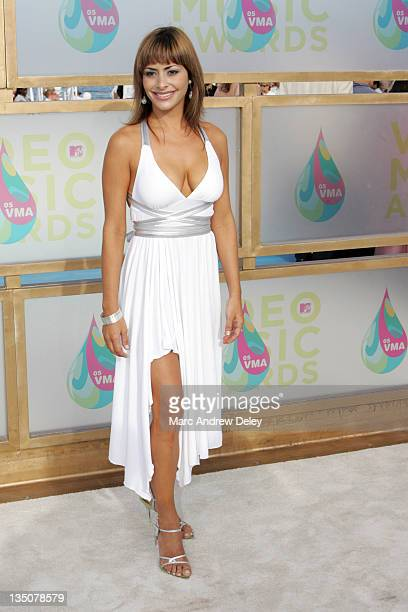 Mari Trini Menendez during 2005 MTV Video Music Awards Arrivals at American Airlines Arena in Miami Florida United States