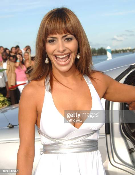 Mari Trini Menendez during 2005 MTV Video Music Awards White Carpet at American Airlines Arena in Miami Florida United States